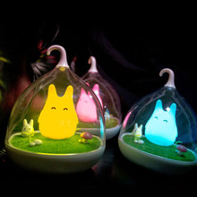 Totoro Portable Touch Sensor USB LED Baby Night Light Bedside Lamp Wall lamp(China (Mainland))