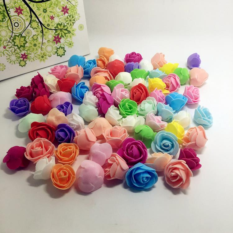 Cheap 30pcs Mini PE Foam Artificial Rose Flowers For Wedding Car Decoration DIY Wreath Decorative Valentine