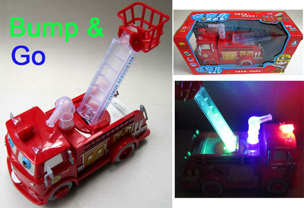 Hot 8.7 inch Flash Sound scale models Fireman Sam Toys Light Bump&go Fire Truck kids toy children cars gift brinquedos B938 - SZ-TOP Store store