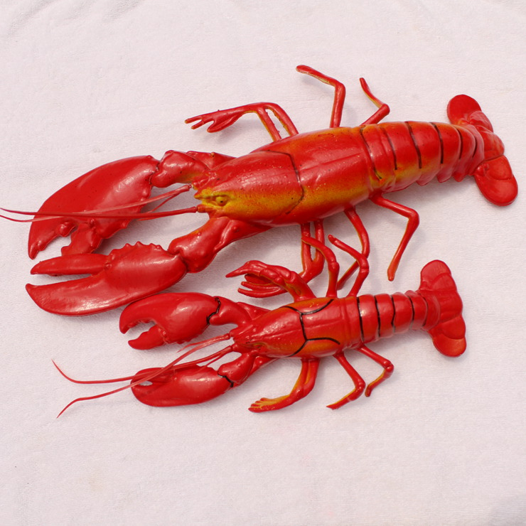 Free Shipping Artificial fruit fake vegetables model home decoration photography props lobster(China (Mainland))