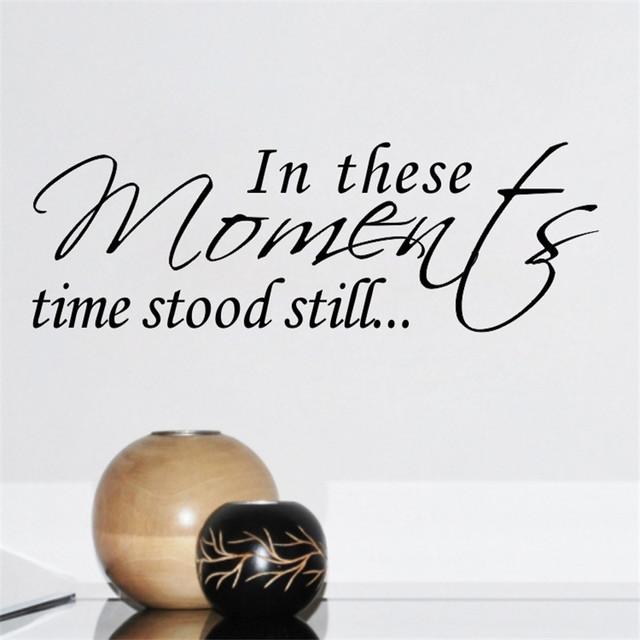 ''This моменты времени Stood'' вдохновляющие котировки стикер стены гостиной стены спальни этикета 8560 главная свадебный подарок