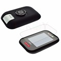 Outdoor Cycling Silicone Rubber Protect Black Case LCD Screen Film Protector For Polar V650 GPS Accessories