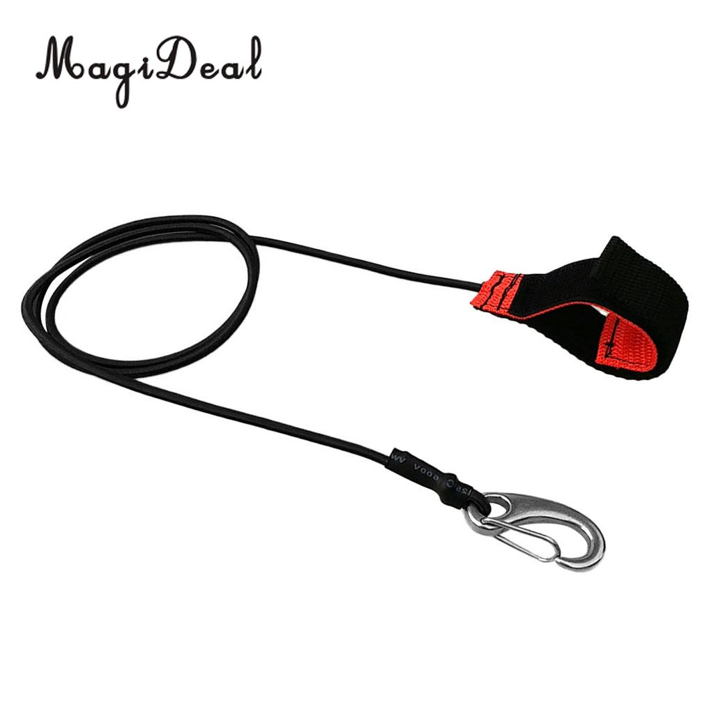 Heavy Duty Stretch Universal Kayak Canoe SUP Paddle Leash Fishing Rod Bungee Safe Tether Rope & Carabiner Hook Gear Accessories