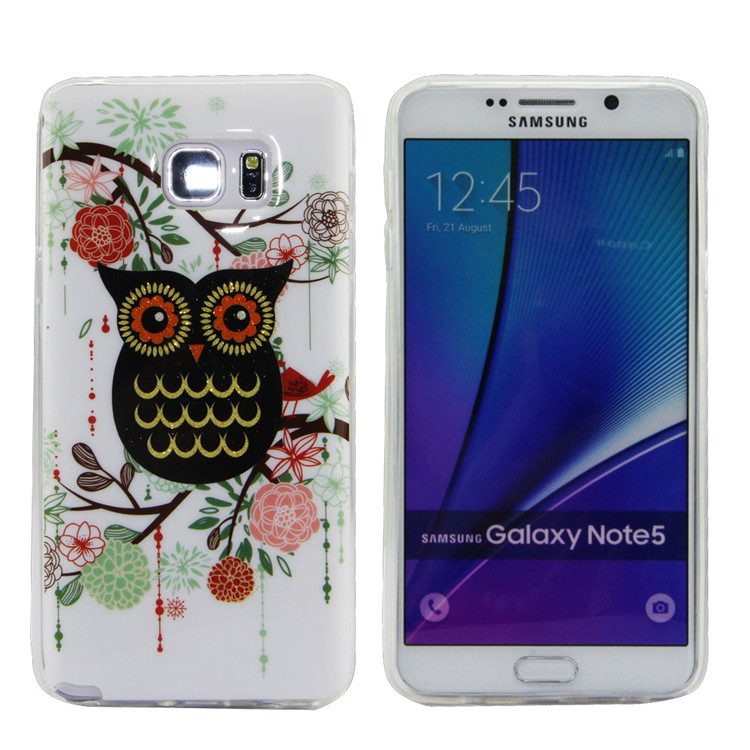 20pcs/lot Color Gel Soft TPU Case For Samsung Galaxy Note 5 Inkjet Technology Fashion Silicon Phone Back Colorful Wholesale