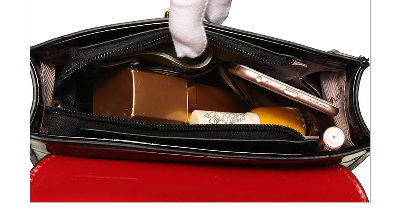 ซื้อ ผู้หญิงหนังสิทธิบัตรกระเป๋าของMessengerกระเป๋าสะพายเวอร์ชั่นเกาหลีสไตล์แฟชั่นแบรนด์ที่มีชื่อเสียง