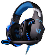 Best PC Gamer casque EACH G2000 Stereo Hifi Gaming Head Phones With Microphone Dazzle Lights Glow Game Music Headset fones(China (Mainland))