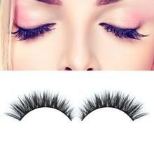 Free Shipping 3D Fashion Bushy Cross Natural False Eyelashes Minkhair Handmade Eye Lashes GUB#(China (Mainland))