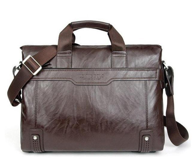 Hot sale!! New Genuine Leather Men Bag Briefcase Handbag Men Shoulder Bag Laptop Bag,free shipping(China (Mainland))