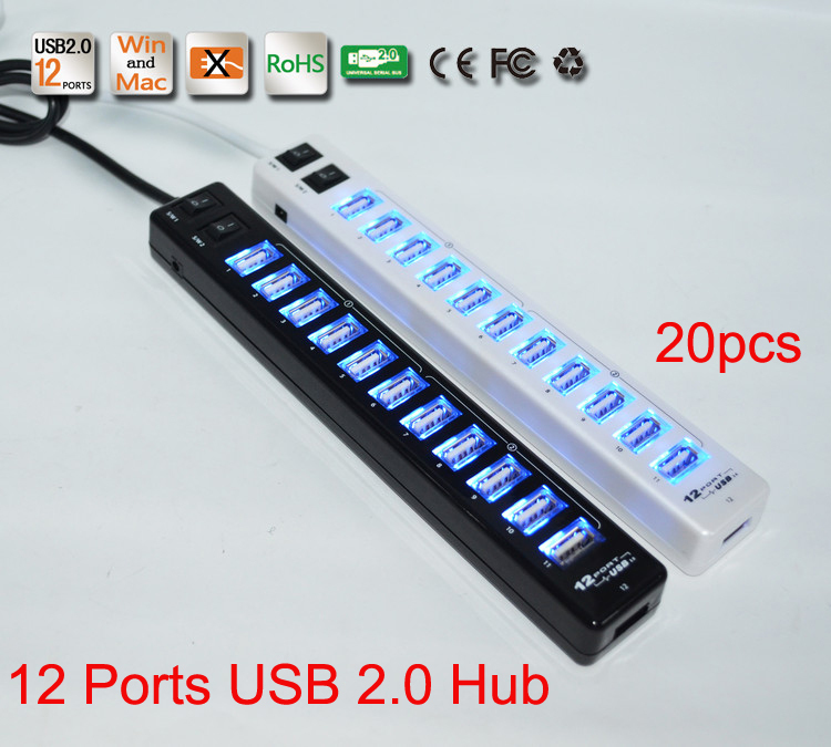 High Quality High Speed Mini 2 Switch 12 Ports USB Hub 2.0 for Laptop PC Computer Accessory 20pcs/lot DHL Free shipping<br><br>Aliexpress