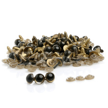 Hot 100pcs 12MM Plastic Safety Eyes For Teddy Bear Doll Animal Puppet Craft(China (Mainland))
