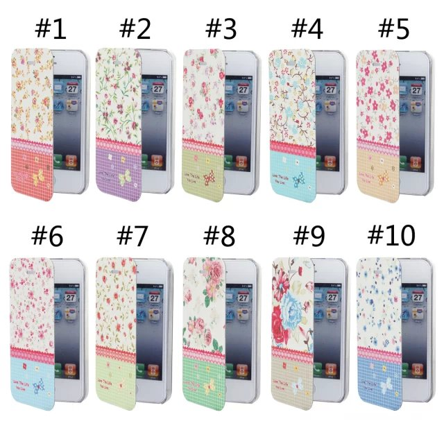 100pcs/lot New arrival Colored drawing flower For iphone 4s protective case ultra-thin for apple 4g phone case+free film(China (Mainland))