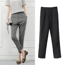 Fashion women Pants & Capris Elastic Waist Vintage High-Rise Cotton Polyester Full Length Casual Vintage Trousers FY*E3312#A1(China (Mainland))