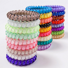 Popular Telephone Wire Gum For Girl or Ladies Elastic Hair Band Rope Candy Colored Bracelet  Large size 4cm inner diameter(China (Mainland))