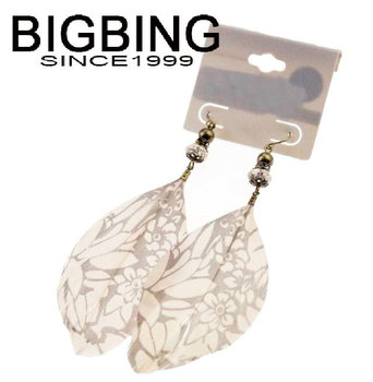 Bigbing оптовая продажа ювелирных изделий мода ювелирные изделия новое поступление горячая распродажа красивая мода серьги пера T23