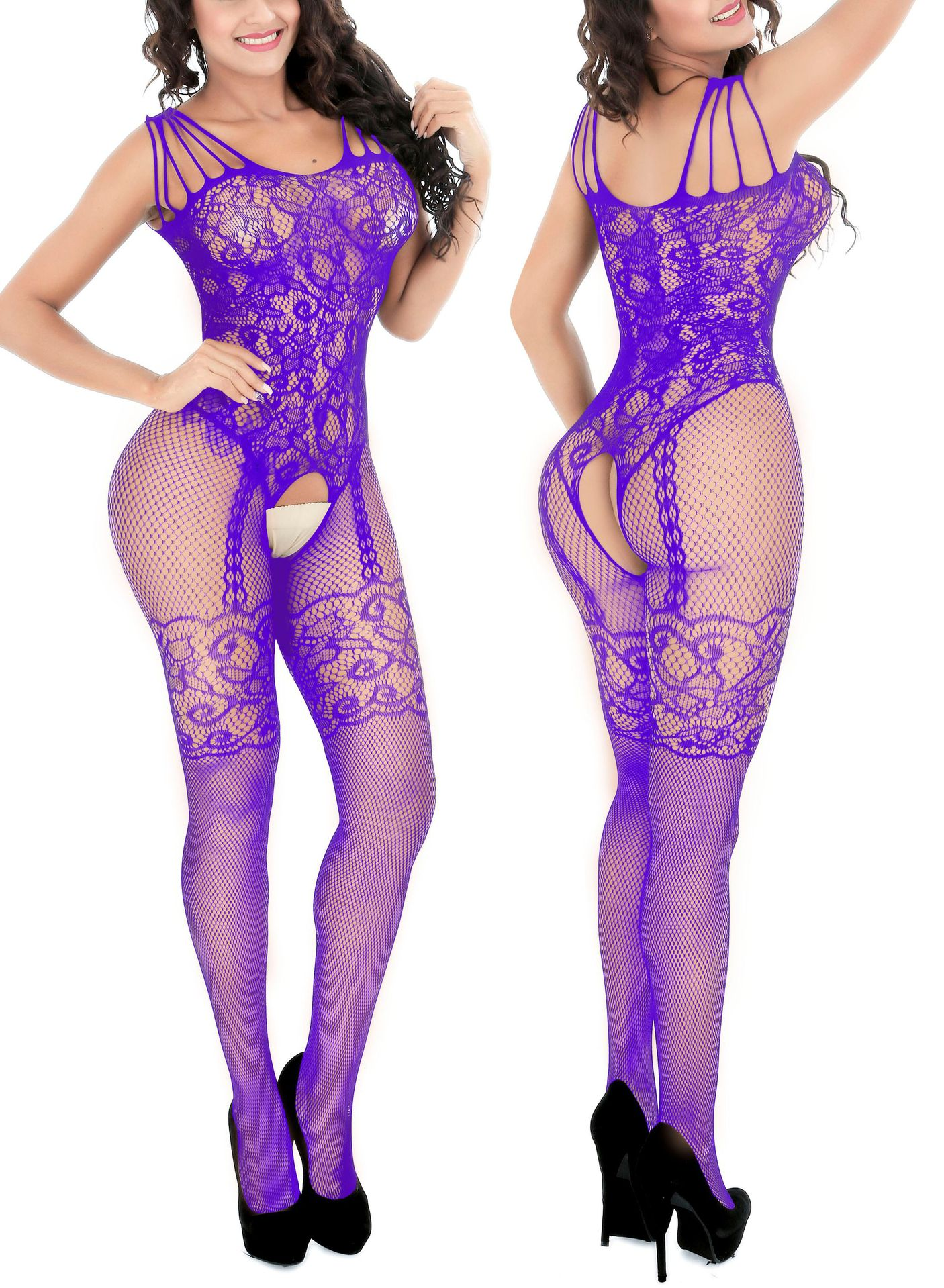 Sexy Mesh Novelty & Special Use Sexy Clothing Sexy Underwear Exotic Apparel Jumpsuit Full Body Stockings Teddies & Bodysuits