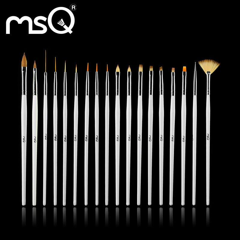 18pcs MSQ Nail Art Cosmetic Brush, High Quality Sable Hair Nail Art Polish Painting Draw Pen Brush, DIY Nail Brush Set(China (Mainland))