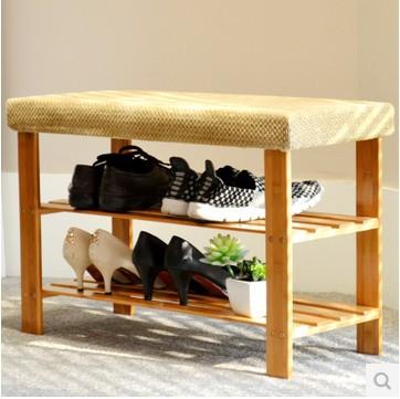 Practical double-layer shoe rack, shoes stool, green living furniture,Bamboo shoe rack,Storage rack(China (Mainland))