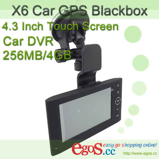 Free Shipping Car DVR GPS X6 Combo Navigator and 3MP Camera support HD 720P/Paint of Paint + 256MB RAM/4GB Nand Flash