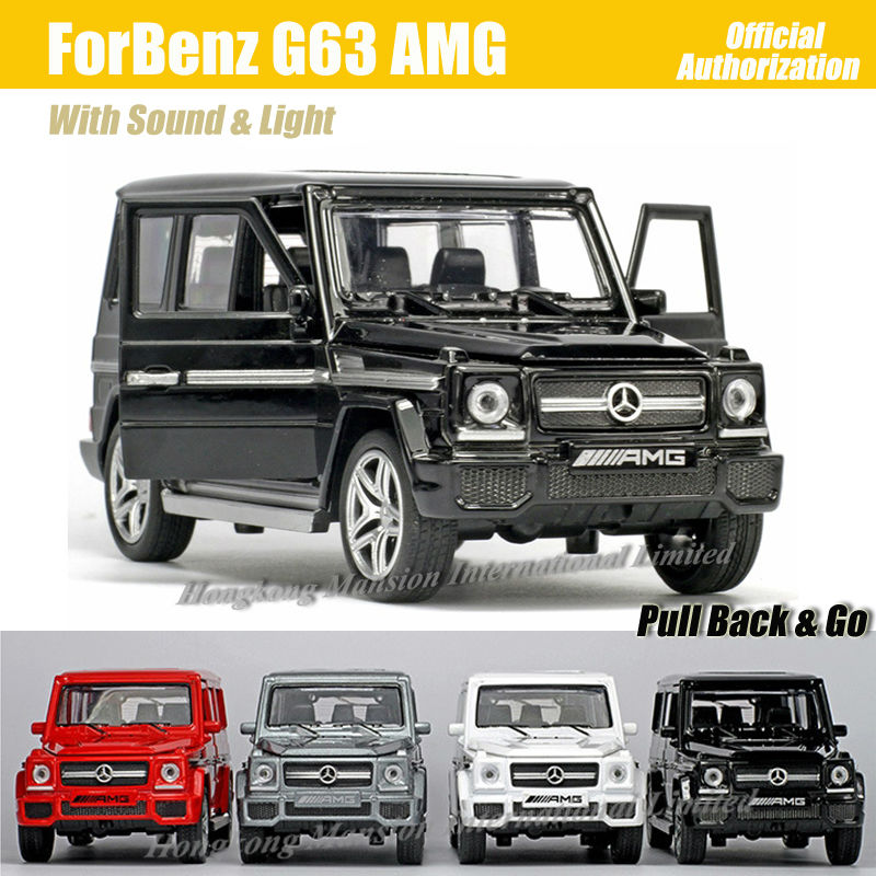 1:32 Scale Diecast Alloy Metal Luxury SUV Car Model For Benz G63 AMG Collectible Model Collection Toys Car With Sound Light(China (Mainland))