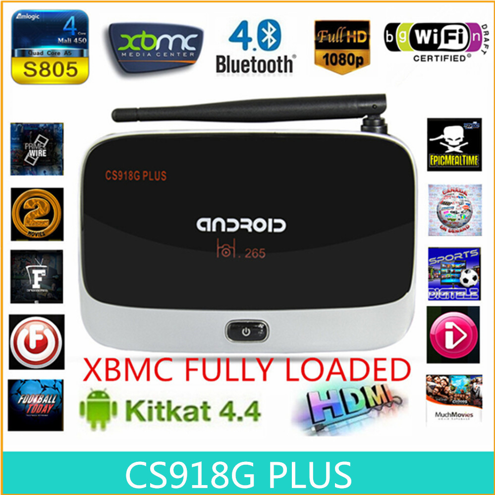 Sale ! cs918G plus,android tv box,Kodi Pre install Amlogic S805 Quad Core Android 4.4 better than cs918,M8,MX,mxq Smart tv(China (Mainland))