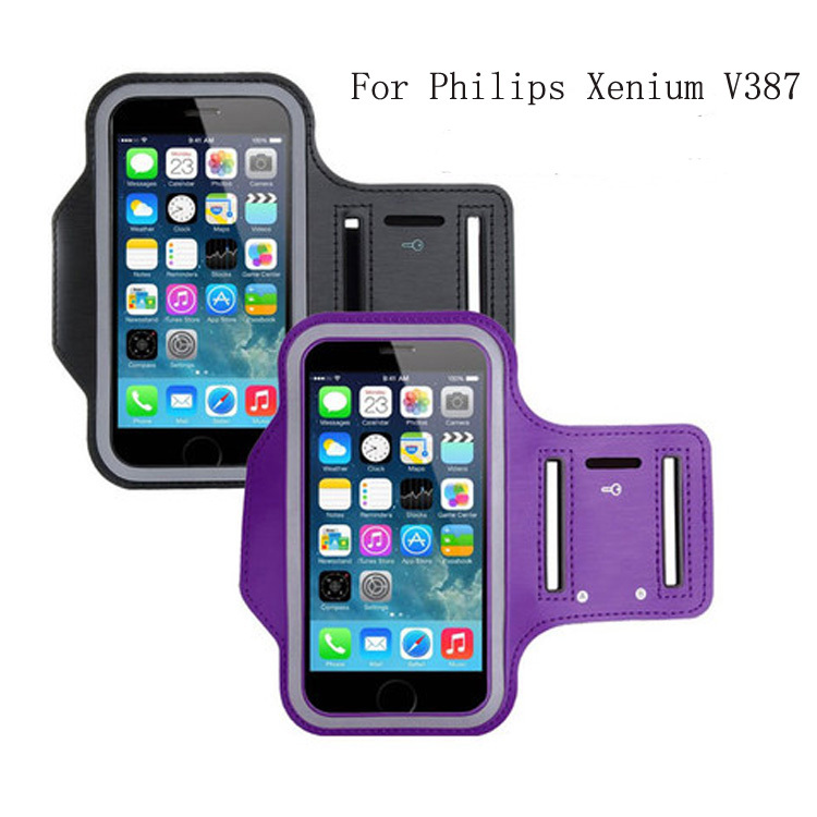 9 colors high quality fashion GYM Workout Sport Case Cover shield for Philips Xenium V387 cell phone(China (Mainland))