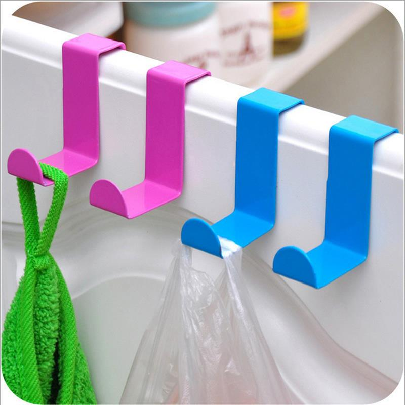 Stainless steel door back hooks creative free nail hook coat rack incognito 2pcs/set 70g over the door hooks(China (Mainland))