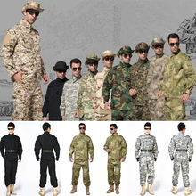 Buy Hunting Clothes Camouflage suit sets Tactical Combat Airsoft Shirt Pants Clothing Bdu Military Army Uniform US A-TACS FG ACU AU for $38.64 in AliExpress store