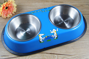 Stainless Steel Dog Food Water Bowl Pet Products Dog Supplies Small Dog Feeders Products For Dogs Stainless Steel Pet Bowl(China (Mainland))