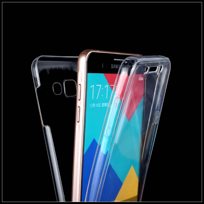 Soft Clear Cover For Samsung A310f ( A3 2016 ) Ultra Thin 2 In 1 360 Degree Smart Touch Screen Case For Galaxy A3 2016 A310f(China (Mainland))