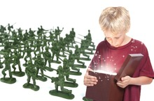 100 PCs children soldier set model toys/ 12 patterns 3 colors PVC mini puppet dolls Boys favorite military army toys, fast ship(China (Mainland))