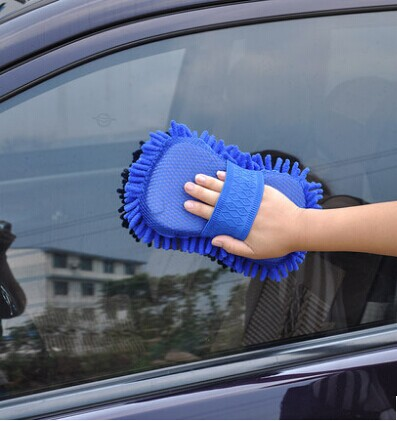 Car cleaning products car wash tool chenille sponge anthozoan bear paw plush car wash cleaning gloves size : Large coral gloves(China (Mainland))