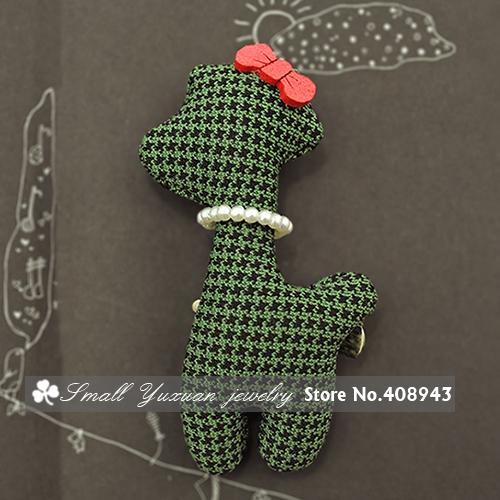 Free Shipping New cute Children Baby hair accessories handmade Cartoon pearl bow giraffe hair clips hairpin+ brooch 2USE/CA3365(China (Mainland))
