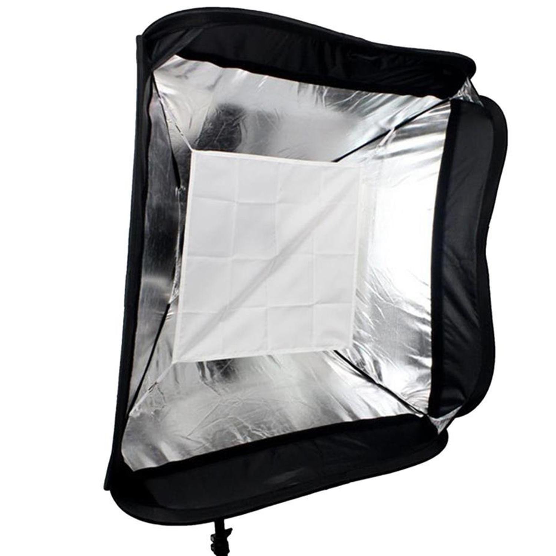Floading Adjustable Godox 60 x 60cm Flash Softbox Kit with S Type Bracket Bowen Mount Holder