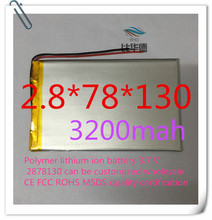 free shipping Polymer lithium ion battery 3 7 V 2878130 can be customized wholesale CE