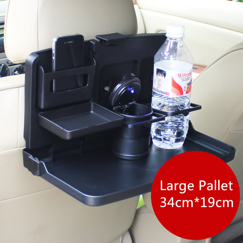 Car Large folding dinning tray Drink cup holder Seat back table support gobelet Foldable Black organizer Travel accessories(China (Mainland))