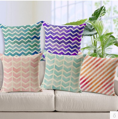colorful stripe&wavy lines gradients color ikea cushion cover pillow case pillow cover sofa decoration(China (Mainland))