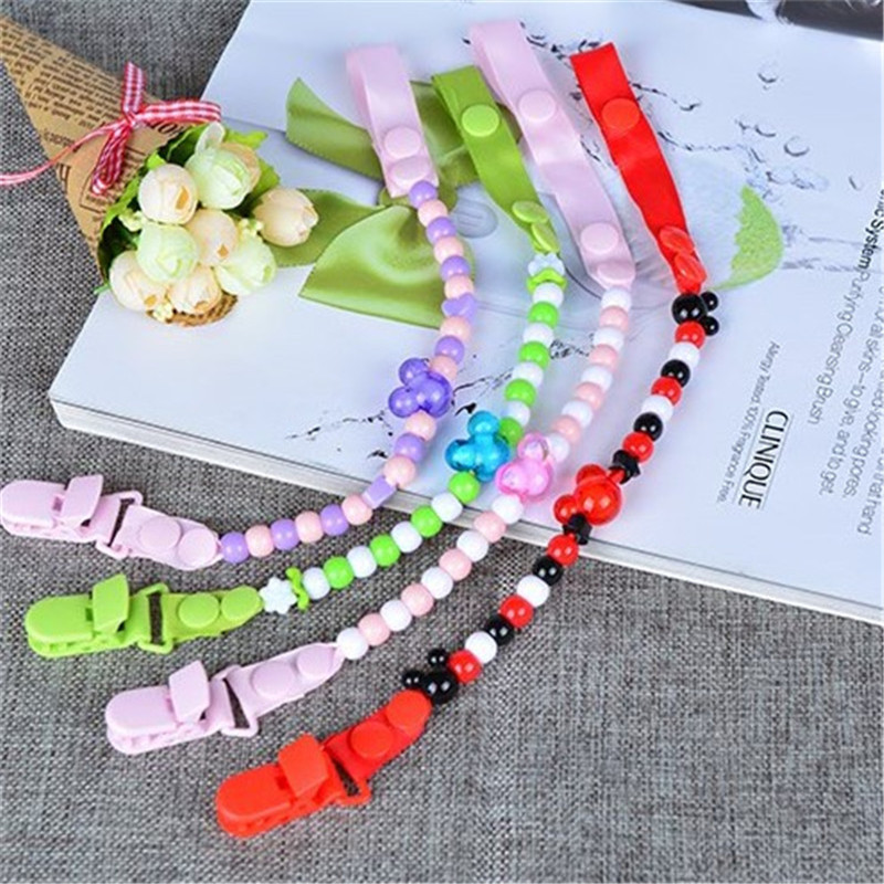 Baby Pacifier Clip Chain Attache Sucette Clip Dummy Nipple Leash Strap Chain Beads Toy Teether Holder Funny Baby Soother Chain(China (Mainland))