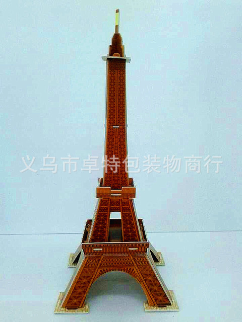hot sales  Eiffel Tower 3D puzzles ,the famous buildings 3D puzzles