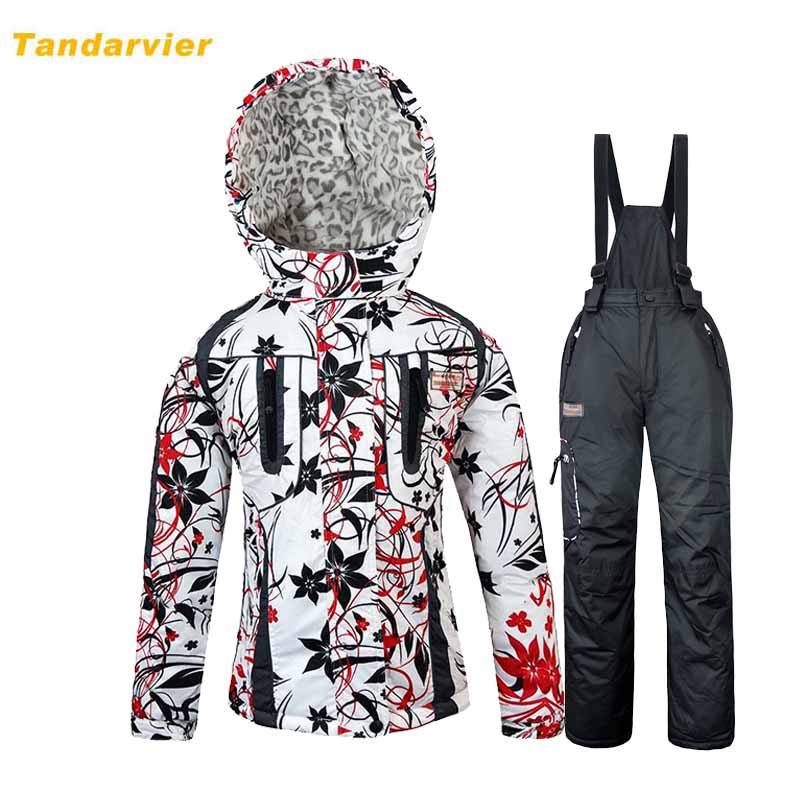 Wholesale Hot-selling winter outdoor ski suit set child cotton-padded jacket plus velvet thickening thermal hiking clothing(China (Mainland))