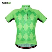 Buy WOSAWE Women Mens Green Cycling Jersey Wear Short Sleeve Shirt Cycle Riding Team Top Garment Uniforms Summer for $14.16 in AliExpress store