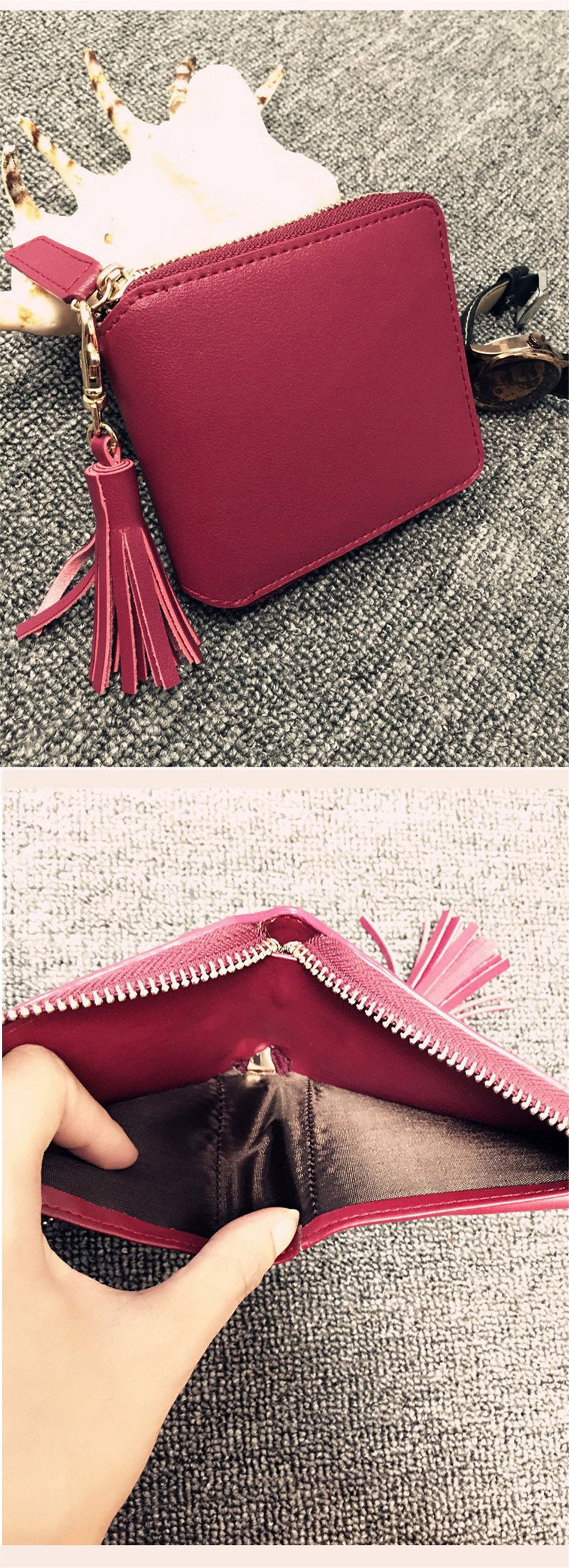 b96f0015ba53 Detail Feedback Questions about Women Coin Purses Tassel Coin Bag ...