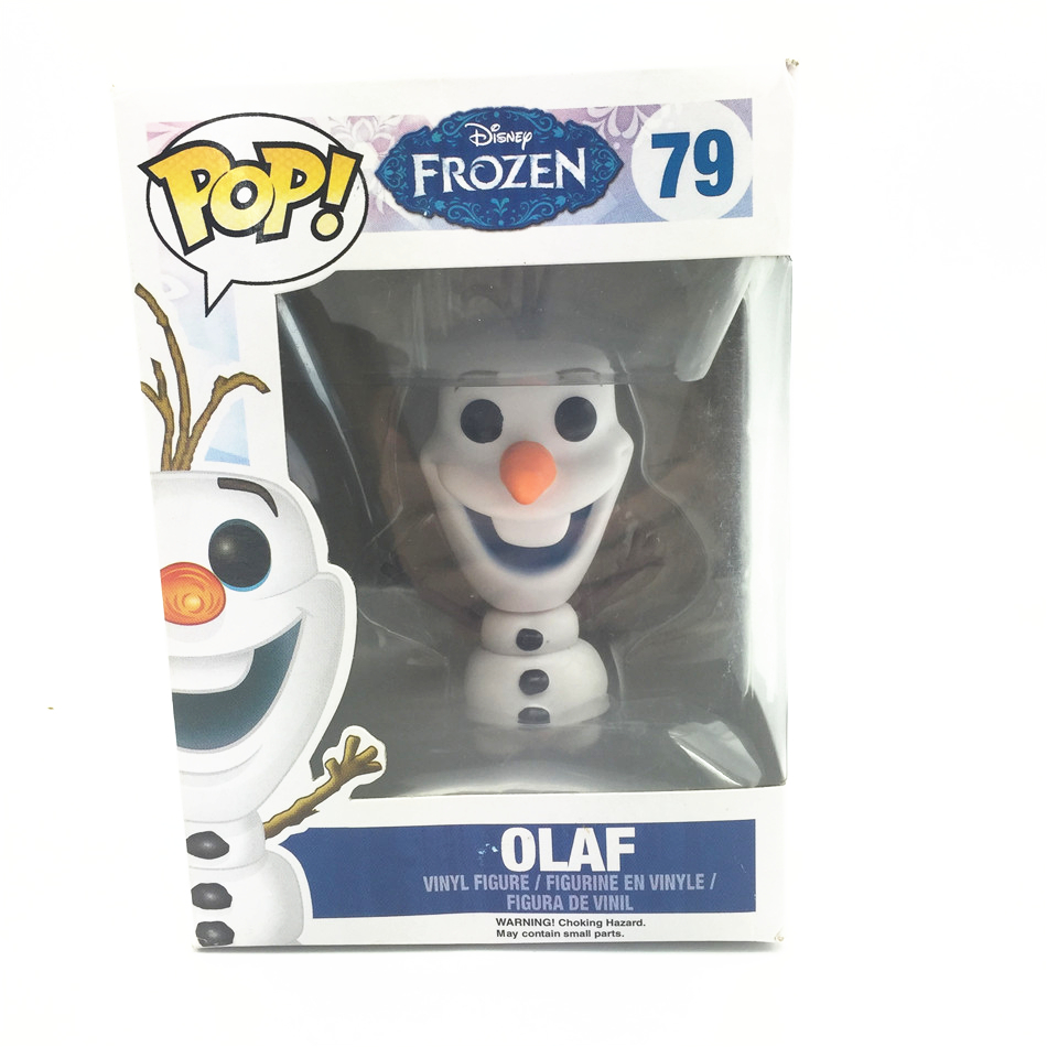 1pcs FUNKO POP 79 OLAF Movie Pvc ELSA ANNA High Quality 10CM Action Figure Snowman Collection Model Kids Toys(China (Mainland))