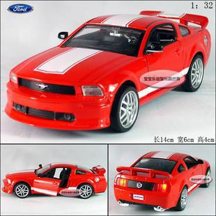 NEW 2015 New Ford Mustang GT 1:32 Alloy Diecast Model Car With Sound&Light Red Toy Collection B279(China (Mainland))
