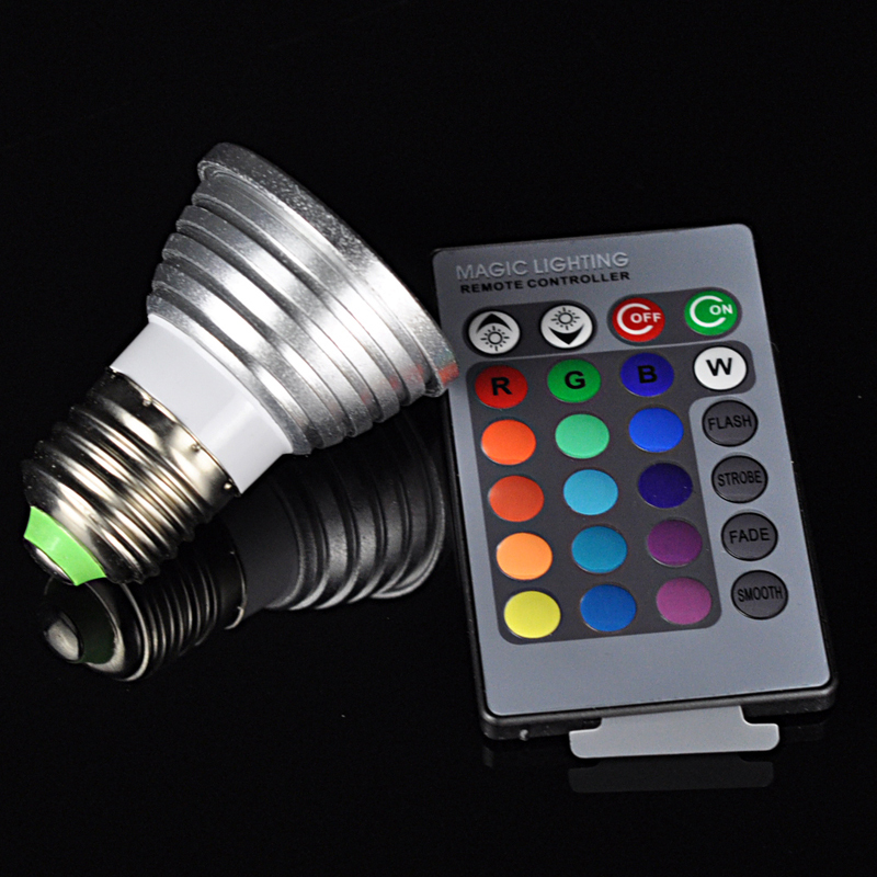 16 Kind Colors Party Lights With Remote Controller LED Spot Lamp RGB LED Bulb 3W E27 Spotlight 85-265V for Decorative Home(China (Mainland))
