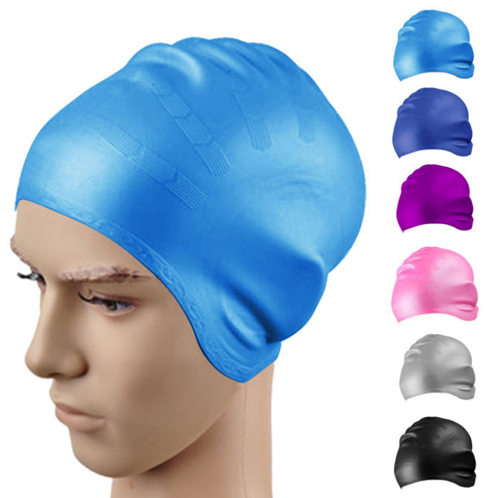 Essential 2015 New Fashion Waterproof Ear protection Universal Unisex Adult Silicone Swim Swimming Hat Cap One Size Fit All(China (Mainland))