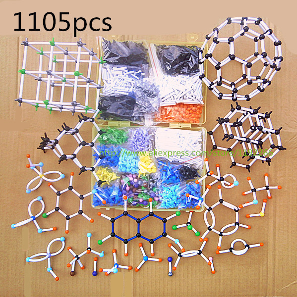 DLS-91105 a large set Chemistry Molecular structure Model Kit the polymer tube - dedicated high molecular Polymer free shipping(China (Mainland))