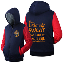 Harry Potter Solemnly Swear am Good Hoodie Logo Winter JiaRong Fleece Mens Sweatshirts - Coslay Anime Home store