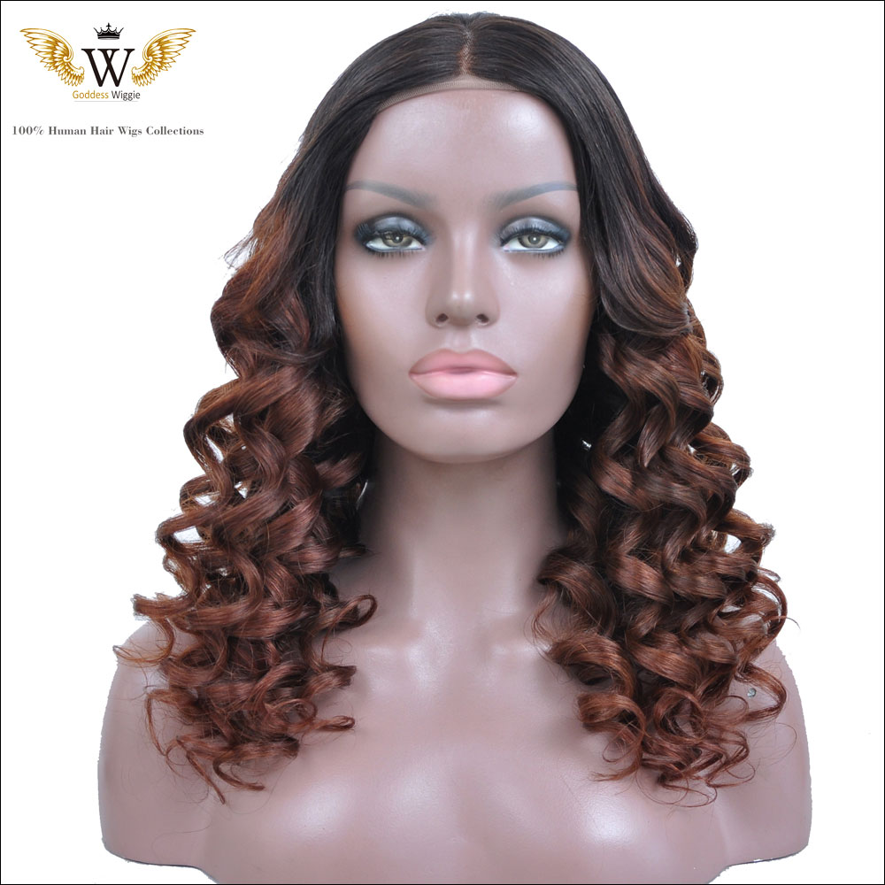 150Density Ombre Lace Front Wig Two Tone Ombre Lace Wig Brazilian Human Hair Full Lace Wigs With Baby Hair U Part Wigs