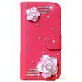 DIY Cute Luxury Crystal Diamond Flip Leather Case Cover For iPhone 6 Plus 5 5 Handmade