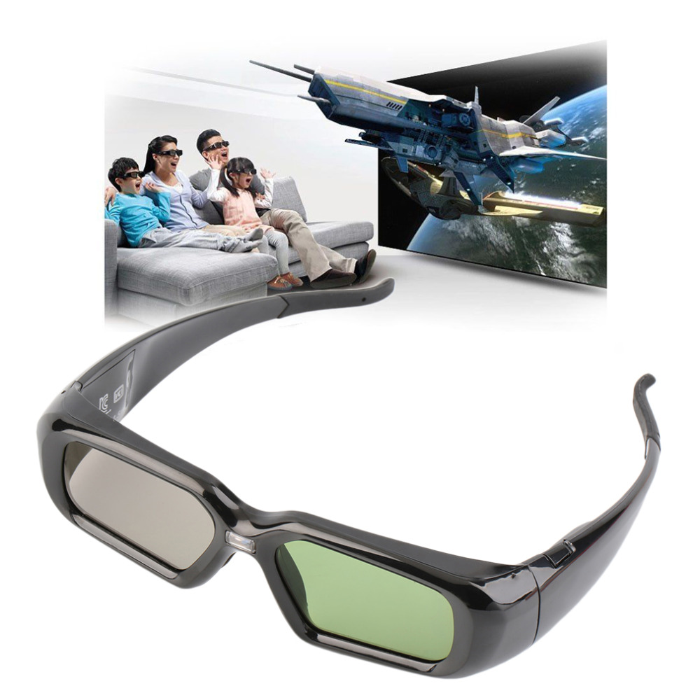 New Active Shutter Glasses 3D Glasses 144Hz For DLP-LINK 3D Ready Projector Whol